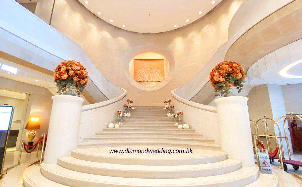 Stairs deco - pink orange