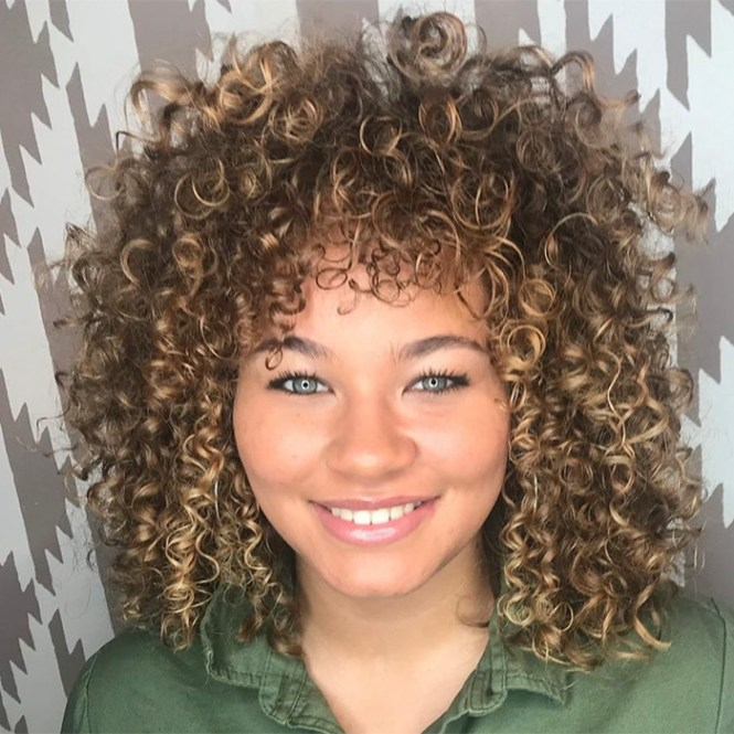 Blonde Naturally Curly Hair Layers