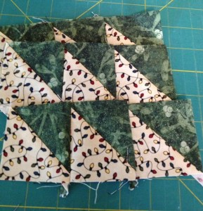 Half-Triangle Quilt Block