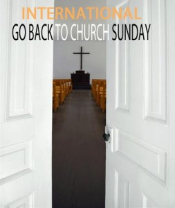 Go Back to Church Sunday