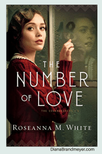 Woman using her finger to write a number on fogged window. The Number of Love by Roseanna M. White