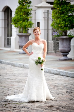 Charleston Cobblestone Streets Bridal Portrait