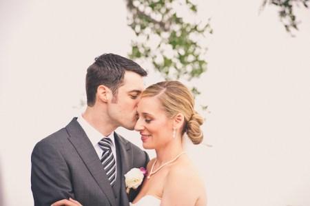 bride and groom wed at ion creek club