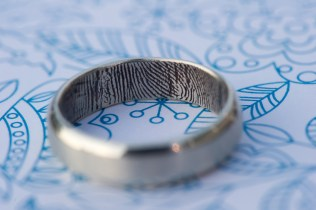 finger print wedding ring