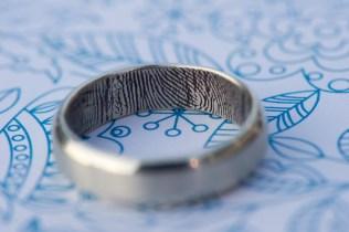finger print wedding ring