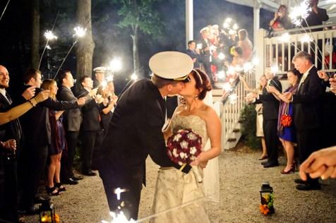 sparkler wedding sendoff