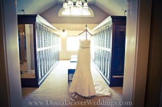 Custom Wedding Dress Hanger wedding photographer Diana Deaver Charleston SC