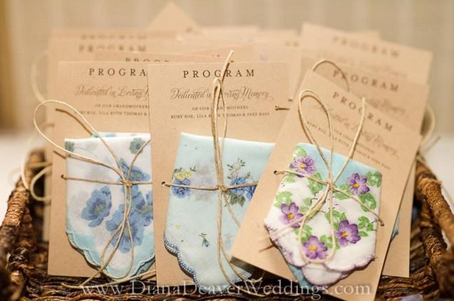 Wedding Program captured by wedding photographer Diana Deaver in Charleston SC-2