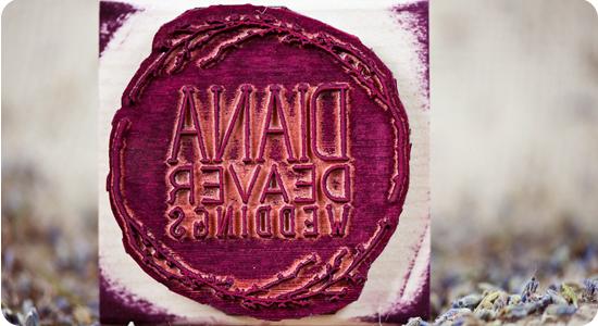 custom diana deaver weddings photography stamp 2