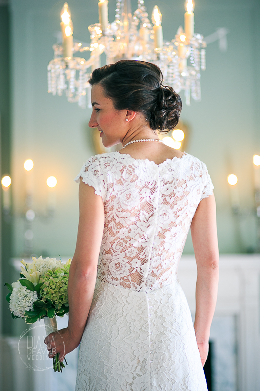 see through lace back wedding dress