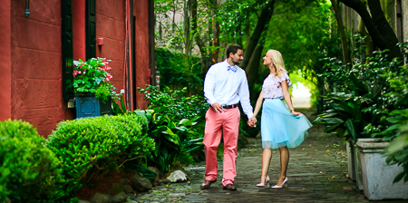 Engagement Session DOWNTOWN Charleston SC Philadelphia Alley  photographed by wedding photographer