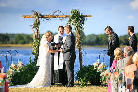 ceremony at Island house waterfront wedding venue charleston sc