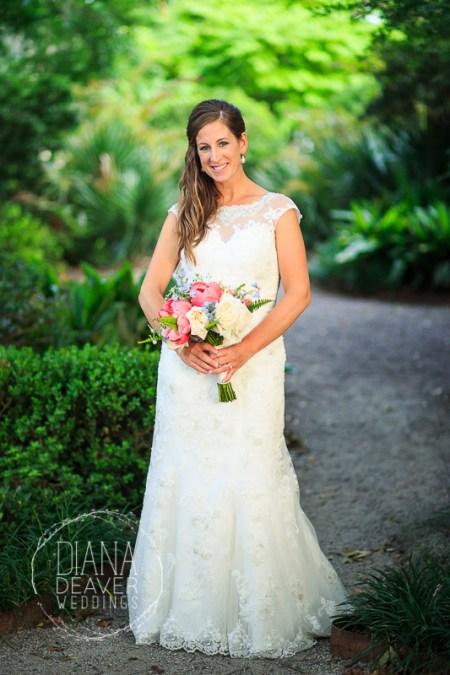 wedding day Bridal portraitat ION Creek Club in Mount Pleasant by Diana Deaver Weddings Photography