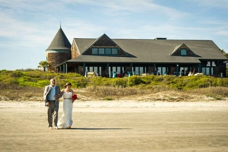 father and bride sandcastle kiawah