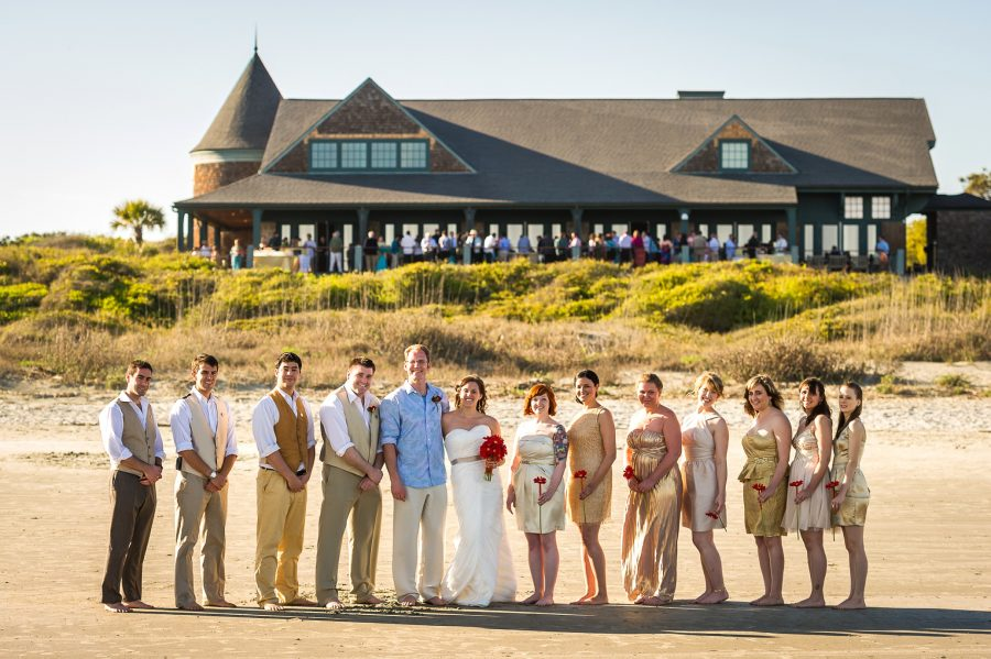wedding bridal party kiawah