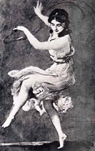 Painting of Isadora Duncan