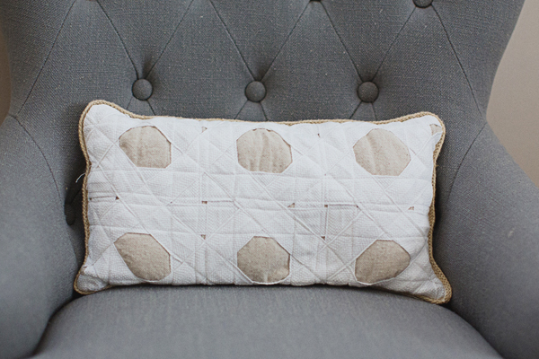 Hole-to-Hole Caning Pillow
