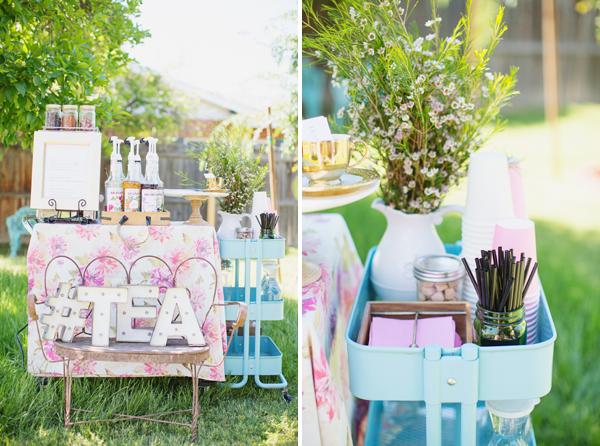 Girl Baby Shower Garden Pink Peach Tea Party Theme002 Diana Elizabeth