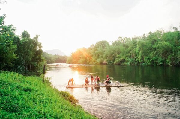 Jungle Rafting in River Kwai Thailand