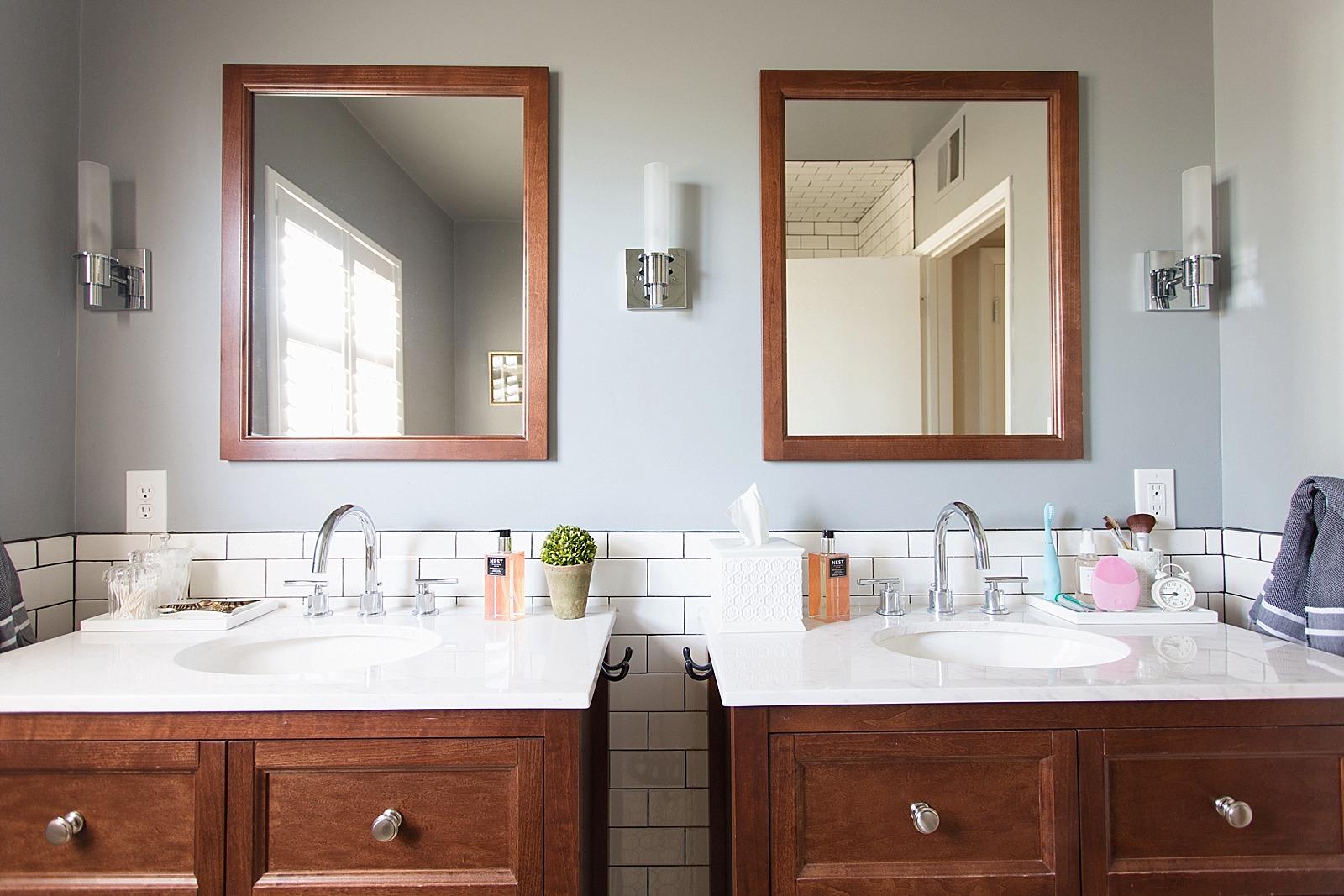 ... White Subway Tile With Dark Black Grout Bathroom Jonathan Adler Touches  Zebra Rug And Bathroom Refresh ...