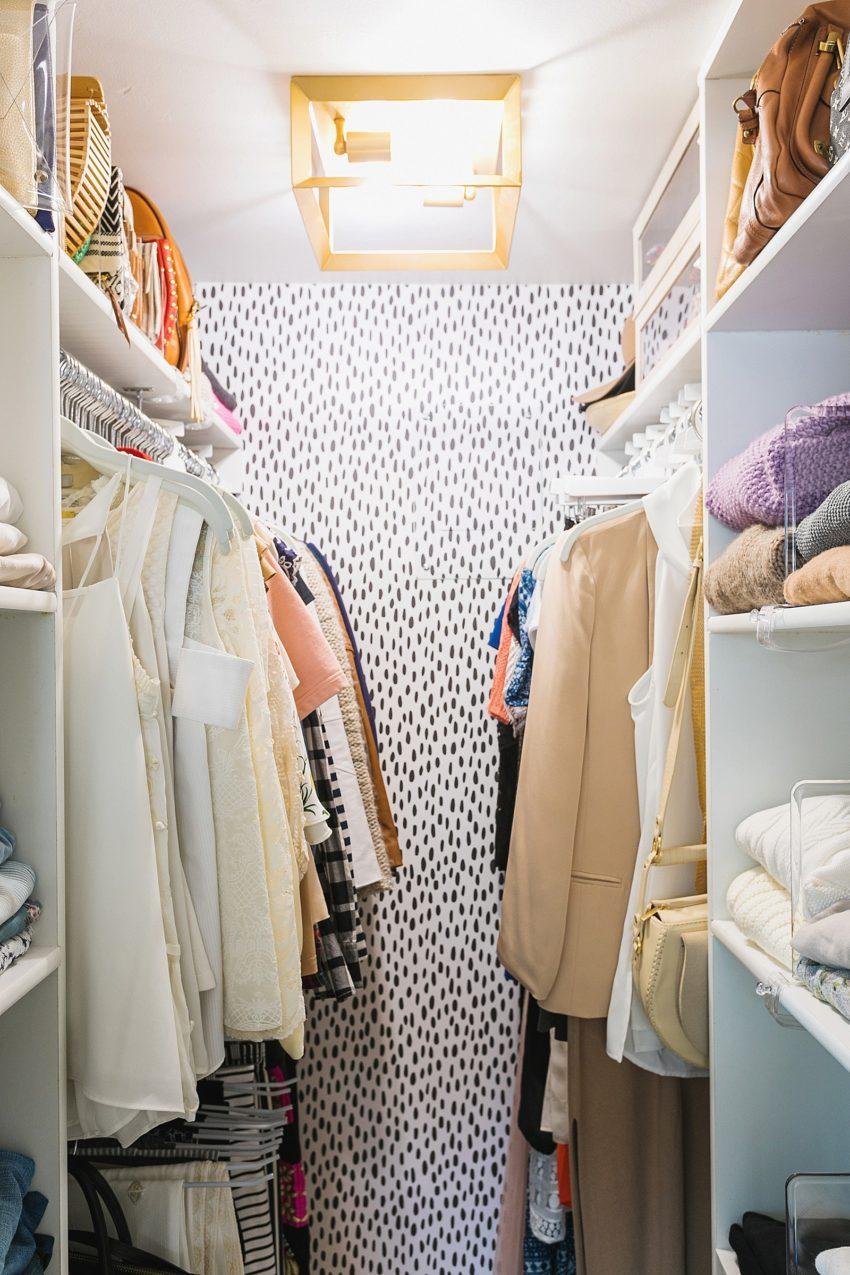 Closet Makeover + Organization Tips for an Efficient Tiny Closet