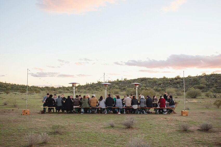 Dinner in the Desert with Cloth + Flame for PHOENIX magazine
