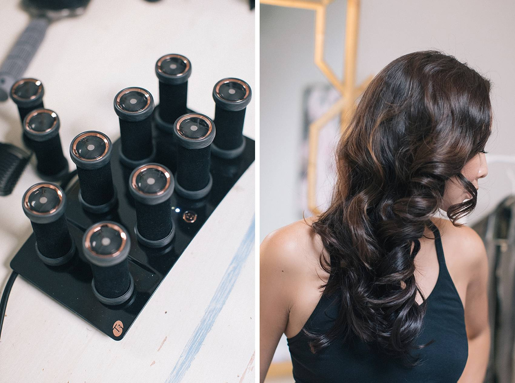 t3 volumizing hot rollers luxe review with after hair curled