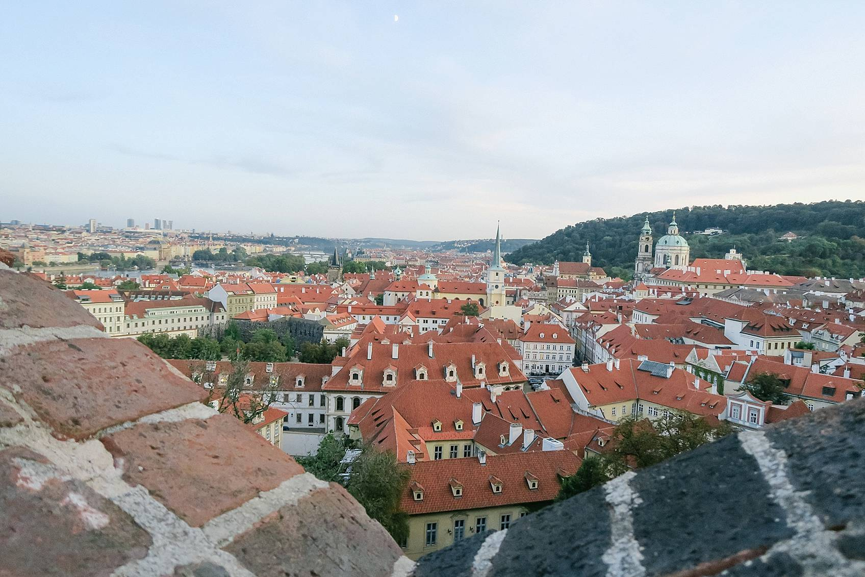 Photo guide to Prague: view from top of Prague castle