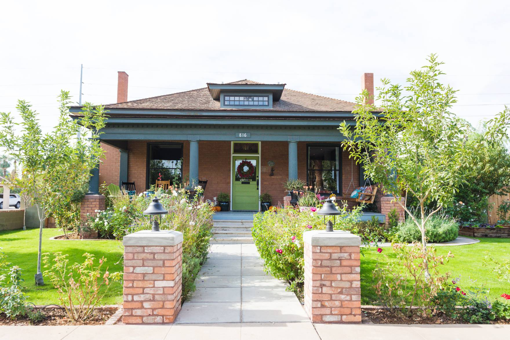 Home Tour of Boho Farm and Home in Downtown Phoenix - cottage brick style home from 1903