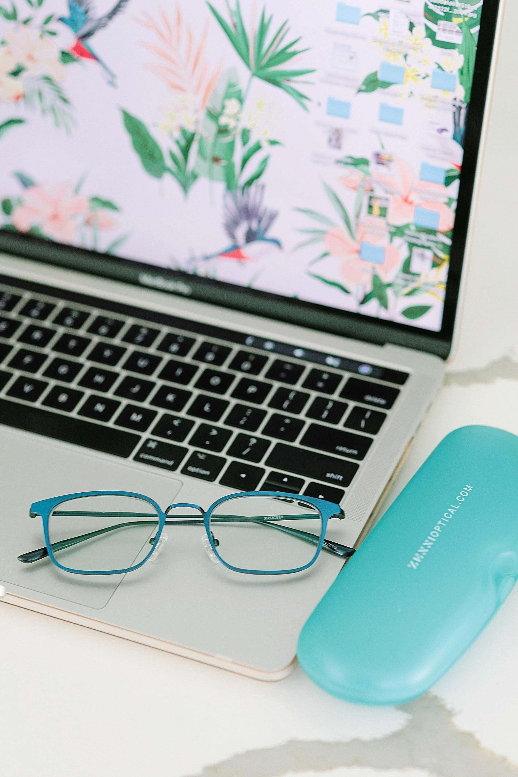 Zenni – UV Blue Blockers glasses on computer