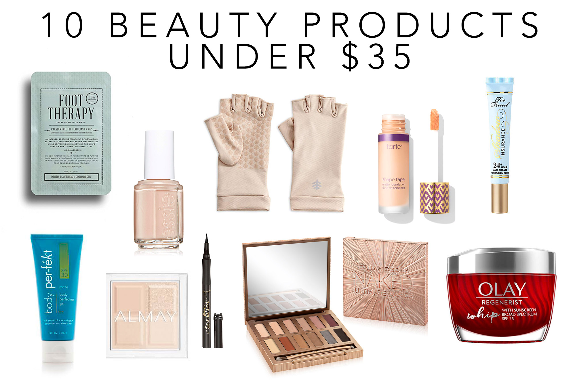 Favorite beauty products under $35