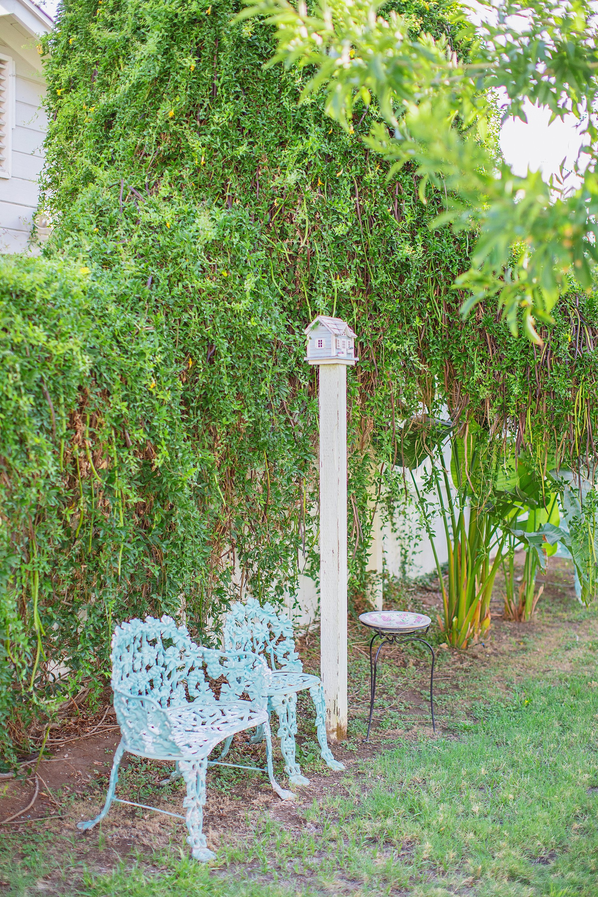 cast iron benches from craigslist backyard patio entertaining seating