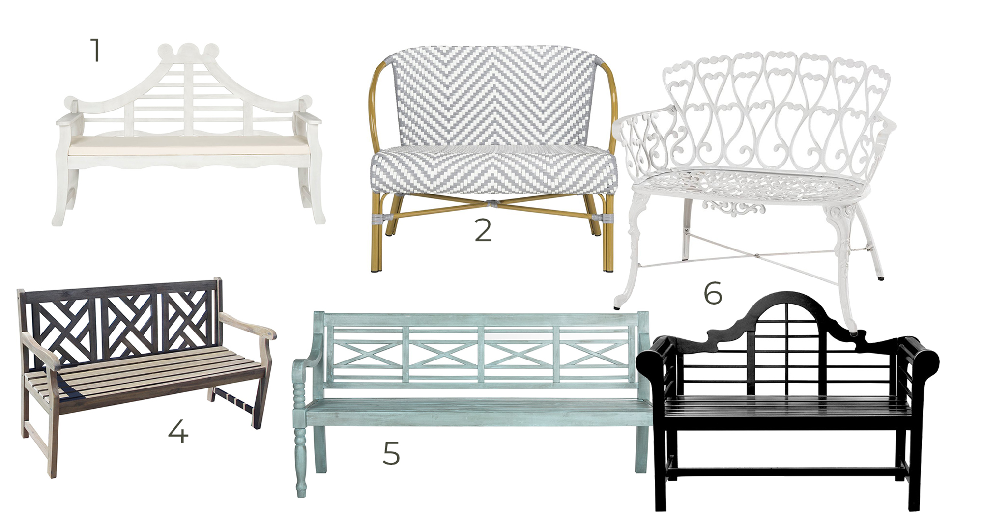affordable backyard benches