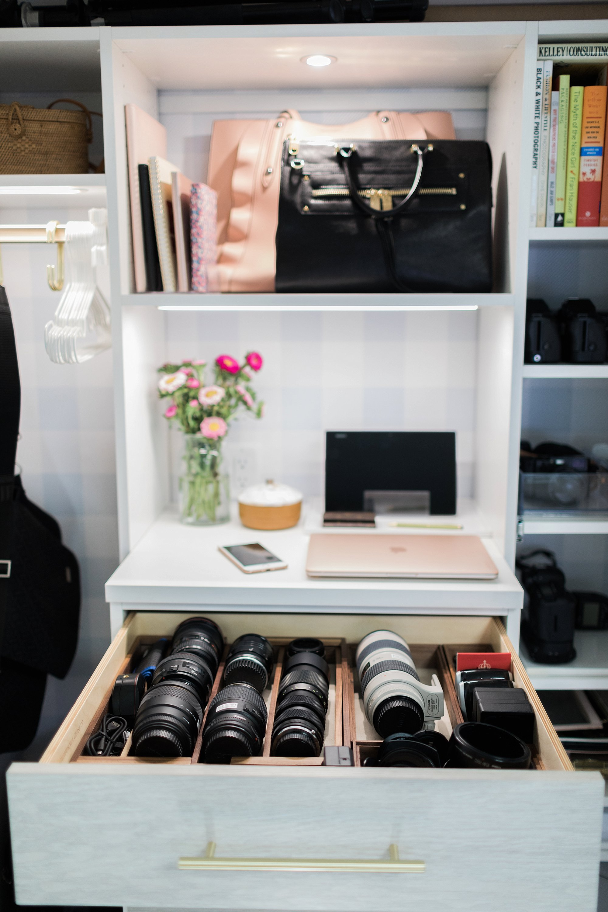 Camera Lens Drawer Lens Organization Blogger Photographer Office Closet And  How To Organize And Store Camera