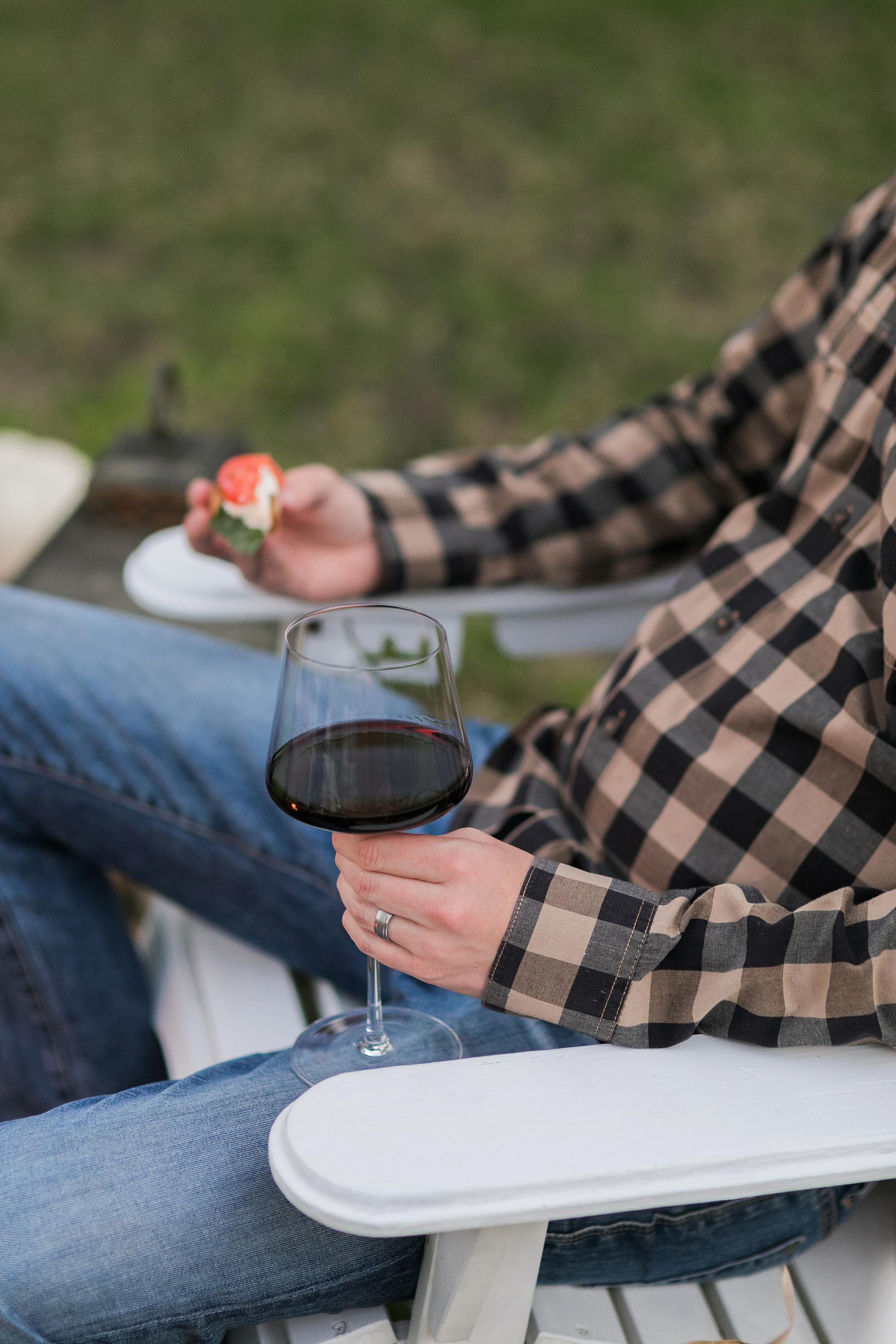 bruschetta with wine decoy merlot wine backyard wine party fall