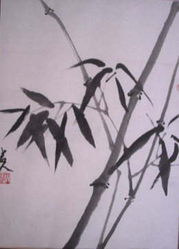bamboo-chinese-brush-painting-on-rice-paper
