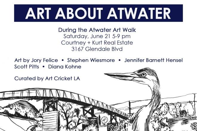 crane la river art show los angeles graphic design