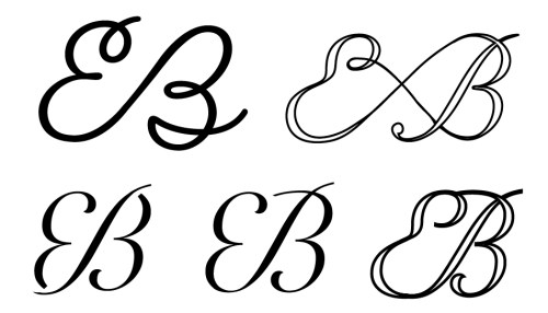 wedding monogram design by designer diana kohne