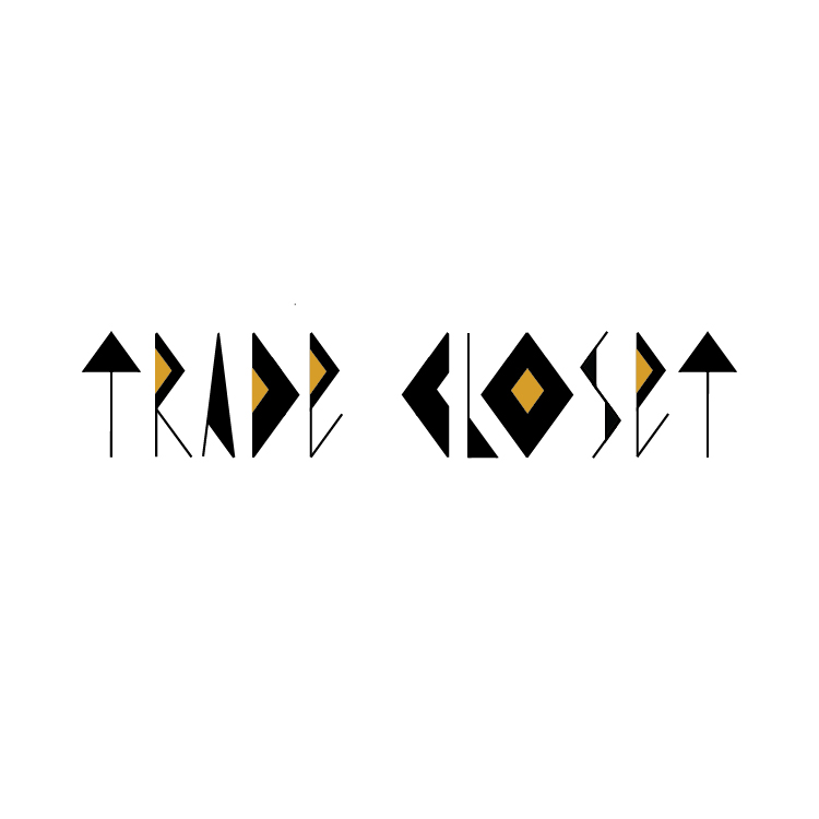 trade closet logo with geometric letters by diana kohne
