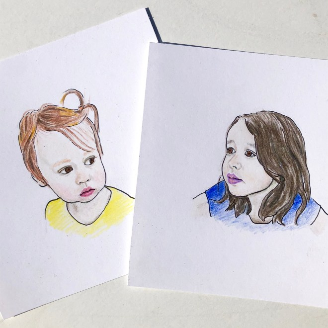 small portrait drawings
