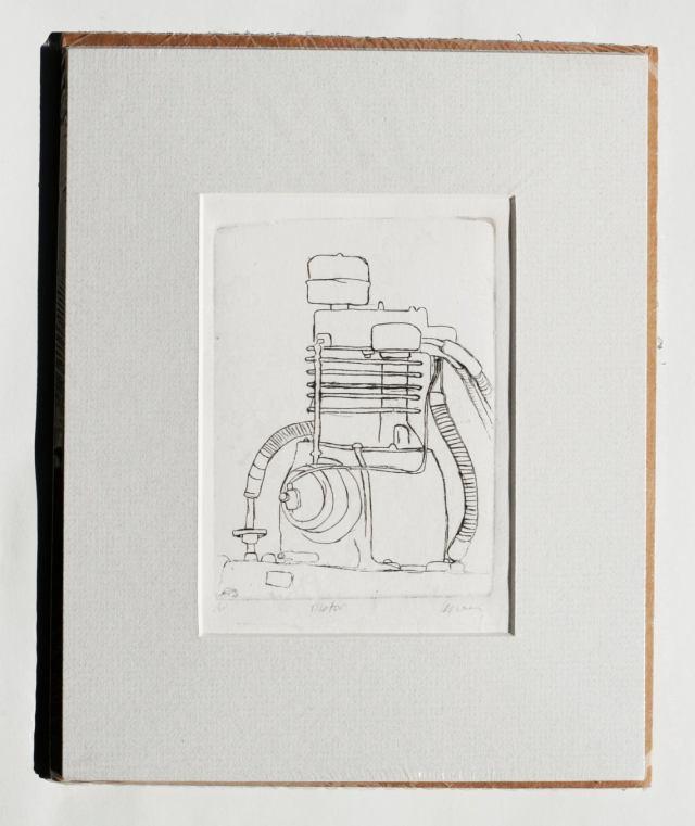 motor etching art