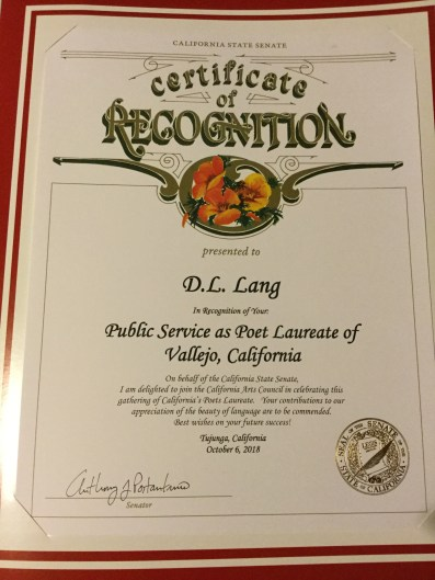 State Senate Certificate of Appreciation