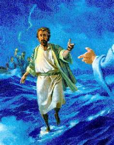 When Peter kept his eyes on Jesus he was able to walk on water