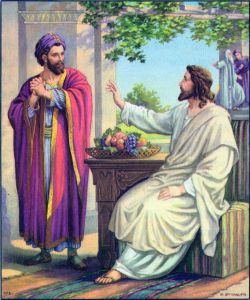 Jesus comes to Zacchaeus' home Luke 19:2-10
