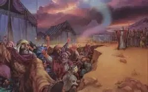 Those that rebelled against Moses were swallowed by the earth