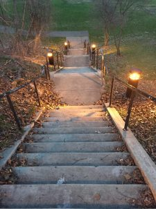 The stairs is one great way to get in exerci