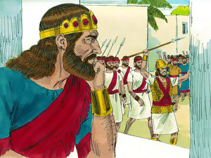 King Saul was a temperamental man