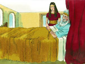 Abishag kept King David warm in his old age