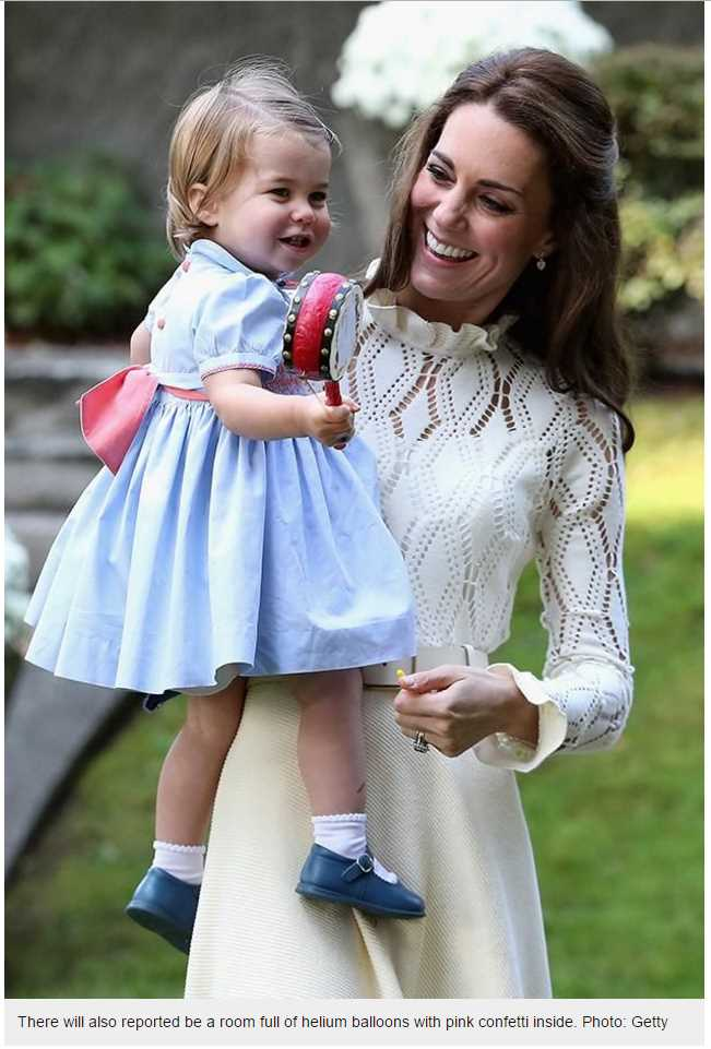 Princess Charlotte is set to turn 2 on Tuesday, with the palace planning a big party