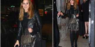 Princess Beatrice looks glamorous in a silver skirt for her first night out since returning to New York Photo (C) TWITTER
